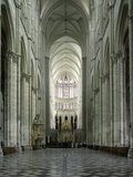 Interior  Notre Dame Cathedral  UNESCO World Heritage Site  Amiens  Picardy  France  Europe