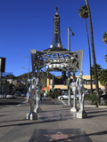 Silver Four Ladies of Hollywood Gazebo  Hollywood Walk of Fame  Hollywood Boulevard  Hollywood  Los