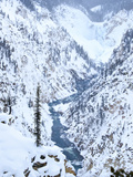 Artists Point of Grand Canyon Yellowstone in Winter  Yellowstone National Park  UNESCO World Herita