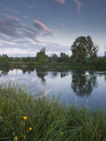 Low Light and Reflections across the River Cher Near Villefranche-Sur-Cher  Centre  France  Europe