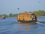 Houseboat for Tourists on the Backwaters  Allepey  Kerala  India  Asia