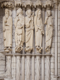 Medieval Carvings of Old Testament Figures  North Porch  Chartres Cathedral  UNESCO World Heritage