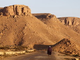 Man Walking on the Chenini Village Road  Tunisia  North Africa  Africa