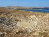 The Theatre  Quarter of the Theatre  Archaeological Site  Delos  UNESCO World Heritage Site  Cyclad