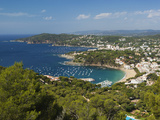 View over Llafranc and Cap Roig from Cap De St Sebastia  Near Palafrugell  Costa Brava  Catalonia