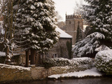 Cottage and Church  Ashford in the Water  Derbyshire  England  United Kingdom  Europe