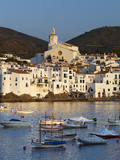Harbour and Town  Cadaques  Costa Brava  Catalonia  Spain  Mediterranean  Europe