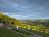 Viewpoint on Box Hill  2012 Olympics Cycling Road Race Venue  View South over Brockham  Near Dorkin