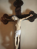 Spanish Crucifix in Sainte-Marie Des Batignolles Church  Paris  France  Europe