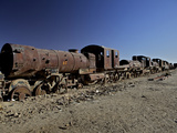 Rusting Locomotive at Train Graveyard  Uyuni  Bolivia  South America