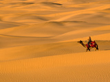 Sam Sand Dunes  Rajasthan  India  Asia
