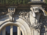 One of the Four Atlantes on the Hotel De Ville (Town Hall)  Tours  France  Europe