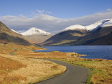 The Road Alongside Wastwater to Wasdale Head and Yewbarrow  Great Gable and the Scafells  Wasdale