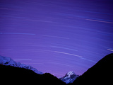 Long Exposure of Night Sky over Aoraki Mount Cook National Park  UNESCO World Heritage Site  South