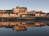 The Chateau of Amboise  UNESCO World Heritage Site  Reflecting in the Waters of the River Loire  Am