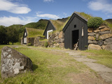 Sod Roofed and Walled Storage and Work Shops  Skogar Folk Museum  Coast of South Iceland