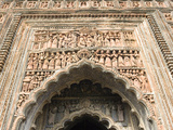 Ornate Terracotta Carvings over Entrance to the Pratapeswar Temple (Pratapeshvara Mandir)  a 19th C