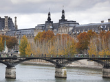 Musee De Louvre Museum and Pont Des Arts Bridge  Paris  France