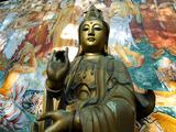 Gangaramaya Buddhist Temple Bronze Statue and Wall Painting  Columbo  Sri Lanka