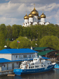 Kotorosi Riverfront and Uspenski Cathedral  Yaroslavl  Golden Ring  Yaroslavl Oblast  Russia