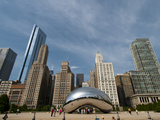 Millennium Park and Cloud Gate Sculpture  Aka the Bean  Chicago  Illinois  Usa