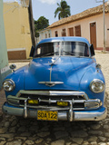 Antique 1950S Car  UNESCO World Heritage Site  Trinidad  Cuba