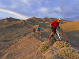 Mountain Bikers on the Zippy Doo Dah Trail in Fruita  Colorado  Usa