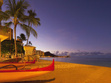 Sunrise  Waikiki Beach  Honolulu  Oahu  Hawaii  Usa