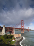Golden Gate Bridge from Fort Point  National Recreation Area  San Francisco  California  Usa