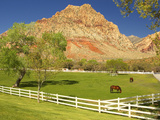 Historic Spring Mountain Ranch  Red Rocks Canyon National Conservation Area  Nevada  Usa