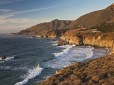 Coastal View by Castle Rock at Sunset  Big Sur Area  Central Coast  California  Usa