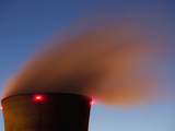 Steam from Cooling Tower at Three Mile Island Nuclear Power Plant  Middletown  Pennsylvania  Usa