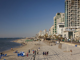 Beachfront Hotels in Late Afternoon  Tel Aviv  Israel