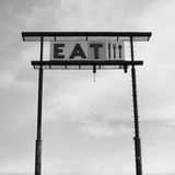 Eat Sign at Abandoned Truck Stop  Bliss  Idaho  Usa