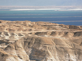 Arid Shoreline and Dead Sea Middle East  Israel