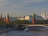 Kremlin View with Bolshoy Kameny Bridge  Kremlin  Moscow  Moscow Oblast  Russia