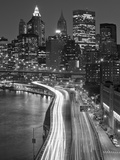 View of Parkway  East River with Lower Manhattan Skyline in Distance  Brooklyn  New York  Usa