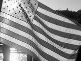 American Flag at Fisherman's Terminal  Seattle  Washington  Usa