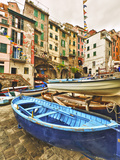 Fishing Boats are Parked in Streets Each Night  Manarola  Cinque Terre  Tuscany  Italy