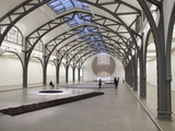 Berlin Circle by Richard Long at the Hamburger Bahnhof Museum  Berlin  Germany