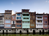 Midieval Houses  Agout River  Quai Des Jacobins  Castres  Midi-Pyrenees Region  France