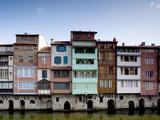 Midieval Houses  Agout River  Quai Des Jacobins  Castres  Midi-Pyrenees Region  France