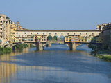 Ponte Vecchio and the Arno River at Sunrise  Florence  Tuscany  Italy