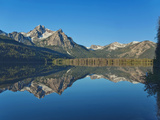 Mt Mcgowan Reflected in Stanley Lake  Sawtooth Mountains  Idaho  Usa