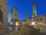 Piazza Duomo at Twilight  San Gimignano  Tuscany  Italy