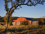 Red Barn at Sunrise on the Block Creek Natural Area  Kendall Co  Texas  Usa