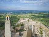 San Gimignano and Countryside from the Palazzo Comunale (City Hall) Tower  Tuscany  Italy