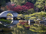 Stone 'Rainbow' Bridge or 'Koko-Kyo'  Hiroshima's Shukkeien Formal Garden Dating to Ad 1620  Japan