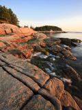 Morning on the Coast of Great Wass Island Near Jonesport  Nature Conservancy Preserve  Maine  Usa