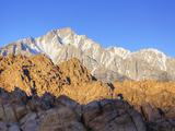 Lone Pine Peak  Alabama Hills with the Eastern Sierra Nevada Range  Lone Pine  California  Usa